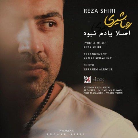 آهنگ اصلا یادم نبود به نام رضا شیری